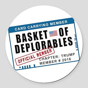 Basket of Deplorables Round Car Magnet