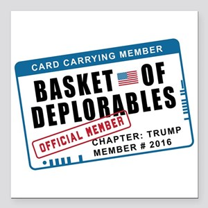 "Basket of Deplorables Square Car Magnet 3"" x 3"""