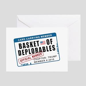 Basket of Deplorables Greeting Card