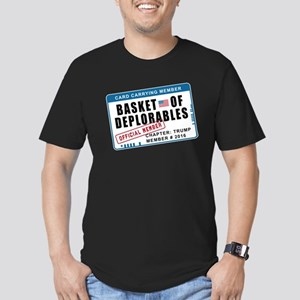 Basket of Deplorables Men's Fitted T-Shirt (dark)