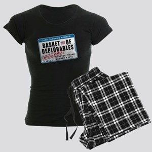 Basket of Deplorables Women's Dark Pajamas