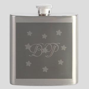 Add Initials Monogram Stars Flask