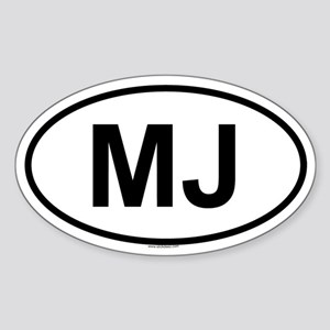 MJ Oval Sticker
