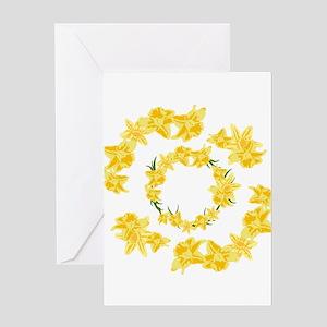 Daffodils illustration Greeting Cards