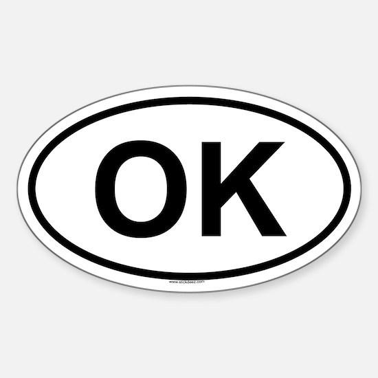 OK Oval Decal