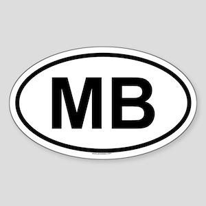 MB Oval Sticker