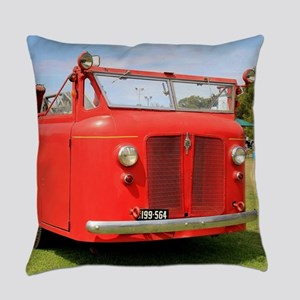 Old red fire truck Everyday Pillow