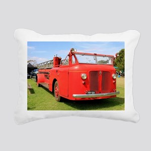 Old red fire truck Rectangular Canvas Pillow