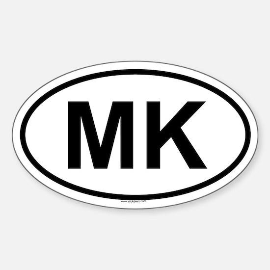 MK Oval Decal