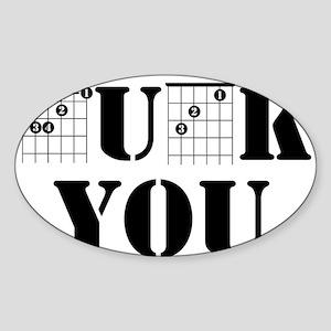 f chord uck you guitar tabs music funny gu Sticker