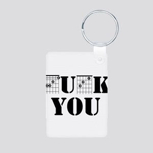 f chord uck you guitar tabs music funny Keychains
