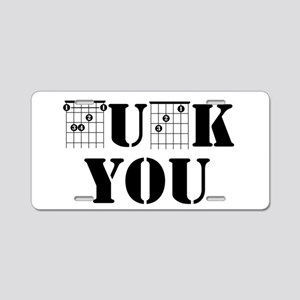 f chord uck you guitar tabs Aluminum License Plate