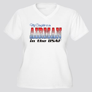 Daughter is an Airman Women's Plus Size V-Neck T-S