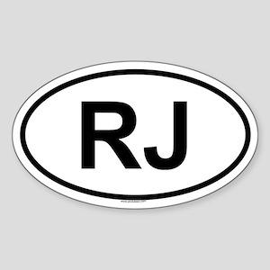 RJ Oval Sticker