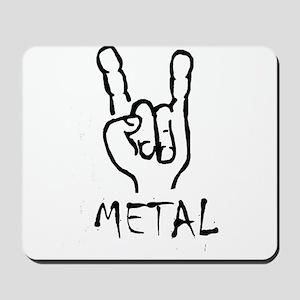 metal horns heavy rock cool design Mousepad