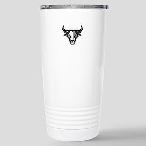 Bull Cow Head Low Polygon Travel Mug
