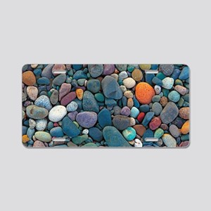 Beach Rocks 2 Aluminum License Plate