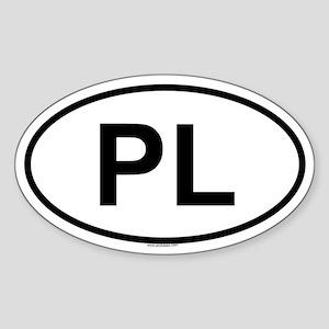 PL Oval Sticker