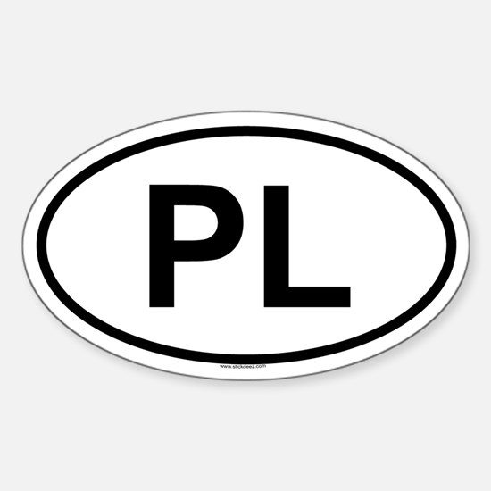 PL Oval Decal
