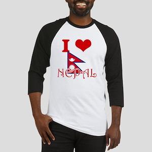 I Love Nepal Baseball Jersey