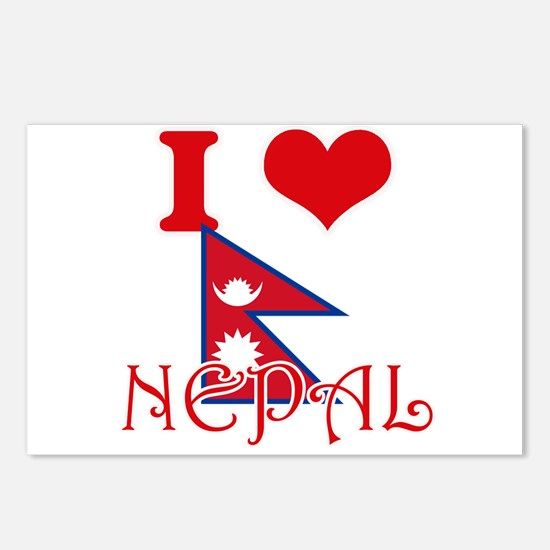 I Love Nepal Postcards (Package of 8)