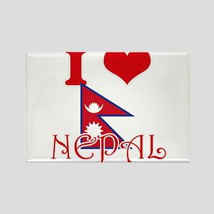 I Love Nepal Magnets