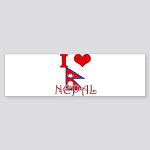 I Love Nepal Bumper Sticker