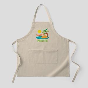 Retired Printer Apron