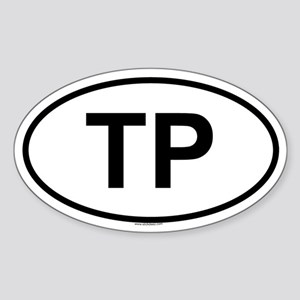 TP Oval Sticker