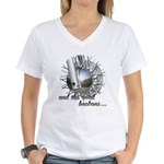 The Road Beckons Women's V-Neck T-Shirt