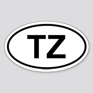 TZ Oval Sticker