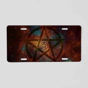 Pentagram Aluminum License Plate