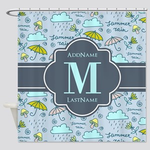 Personalized Monogrammed Shower Curtain