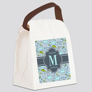 Personalized Monogrammed Canvas Lunch Bag