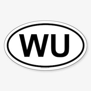 WU Oval Sticker