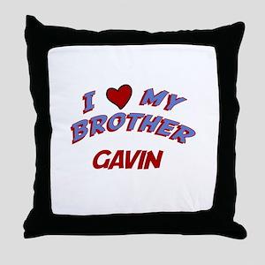 I Love My Brother Gavin Throw Pillow