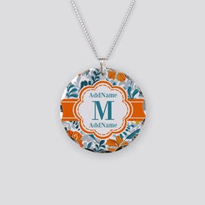 Custom Personalized Monogram Necklace Circle Charm
