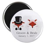 Crafty Bride & Groom Magnets