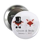 """Crafty Bride & Groom 2.25"""" Button (100 Pa"""