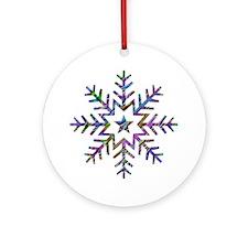 Colorful Snowflake Ornament (Round)