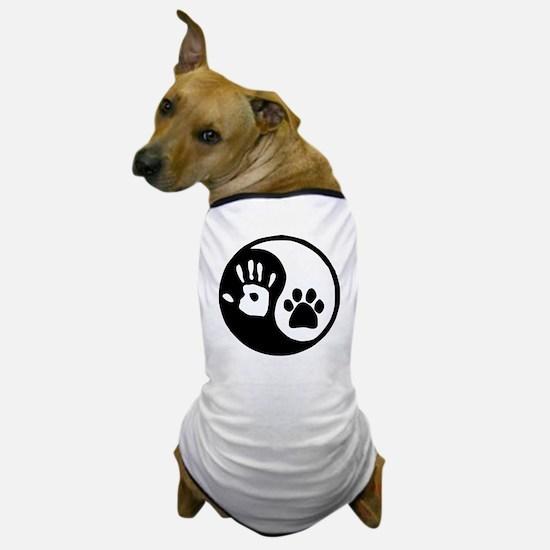 Yin Yang Hand Paw Dog T-Shirt