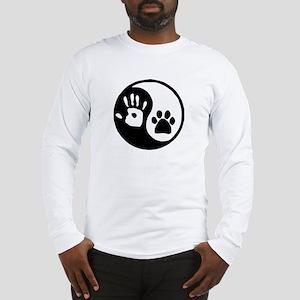 Yin Yang Hand Paw Long Sleeve T-Shirt