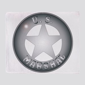 US Marshal Badge Throw Blanket