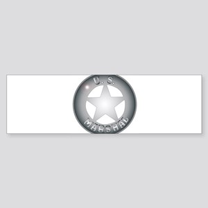 US Marshal Badge Bumper Sticker