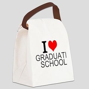 I Love Graduate School Canvas Lunch Bag