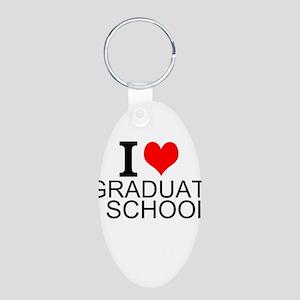 I Love Graduate School Keychains
