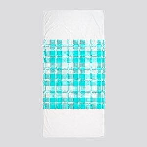 Tratan Style Pale Blue Backgrpund Beach Towel