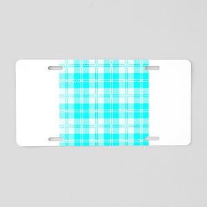 Tratan Style Pale Blue Back Aluminum License Plate