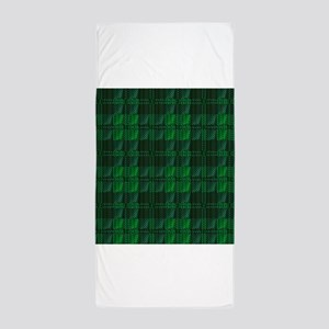 Dark Green Tartan Beach Towel