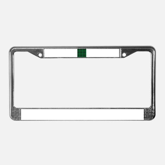 Dark Green Tartan License Plate Frame